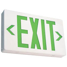 ezxteu2gw em led exit fixture white with green lettering 120v 277v
