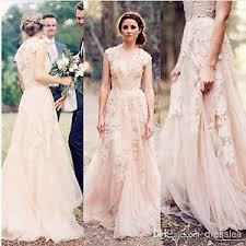 Image Is Loading Vintage Lace Wedding Dresses Cap Sleeve Bridal Gowns