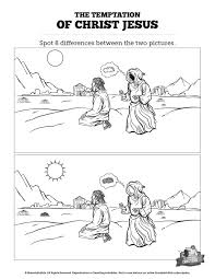 Matthew 4 Jesus Tempted Kids Spot The Difference Think These Two Sunday School