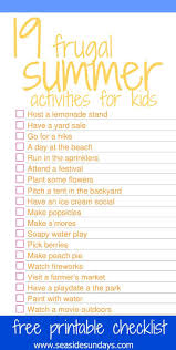 The Best Summer Activities For Kids With Free Printable Checklist