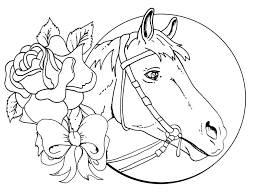 Head Flower Horse Coloring Pages
