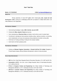 Java Sample Resume 4 Years Experience Terrific Developer Responsibilities