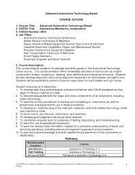 Resume Sample For Mechanic