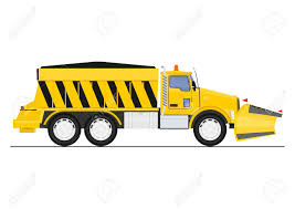 100 Salt Spreader For Truck Cartoon Snow Plow And Flat Vector Royalty Free