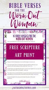 Worn Out Woman Scripture Art Print