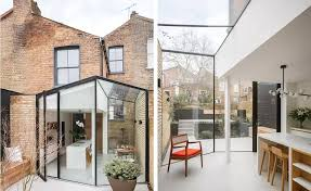 100 Glass Extention Architecture DROO Adds Geometric Glass Extension To East London