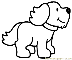 Printable Coloring Page Dog Puppy Mammals Dogs