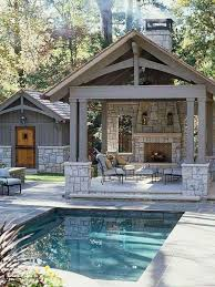 Harmonious Pool Pavilion Plans by Backyard Design Outdoor Kitchen Pool House Small Inground Swimming