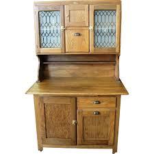 What Is A Hoosier Cabinet by Antique Boone Oak 2 Piece Kitchen Cabinet From Breadandbutter On