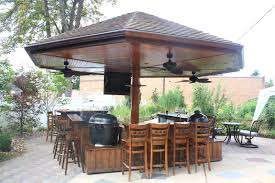 Patio Wet Bar Ideas by Outdoor Bar Handmade Primo Grill Outdoor Kitchen And Bar By Deck
