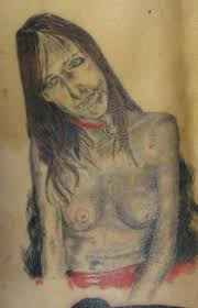 Ugly Woman Portrait Tattoo Funny Tattoos Regrettable Bad Terrible Awful Ugliest Wtf