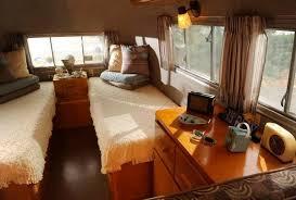 The Inside View Of Restored 1956 Airstream Safari