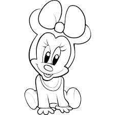 Baby Cute Minnie Mouse Coloring Pages