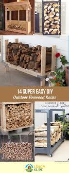 13 Super Easy DIY Outdoor Firewood Racks