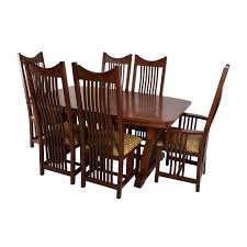 82% OFF - Homestead Furniture Homestead Furniture Classic Mission Solid Oak  Dining Set / Tables Kitchen Design Oak Ding Room Table Chairs Art Piece Mission Craftsman Vermont Woods Studios Set Amish And 4 Side New Classic Fniture Designed Nhport With Chair Home Envy Furnishings Solid Wood Floor Lighting Frame Architecture Arts Bathroom Bepreads Custom Made Cherry Style Fixtures Prairie Chandeliers Closeout Special Price Modern Leg 6 Chairs