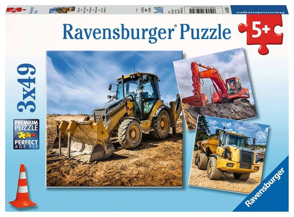 Ravensburger Children's Jigsaw Puzzle Digger at Work! Piece, Age 5 +