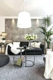 deco salon gris noir blanc idee deco salon canape noir de la