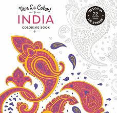 Vive Le Color India Adult Coloring Book In De