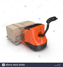 100 Walkie Pallet Truck Electric Walkie Pallet Jack Isolated On White 3D Illustration Stock