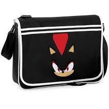 shadow the hedgehog sonic game college messenger shoulder bag
