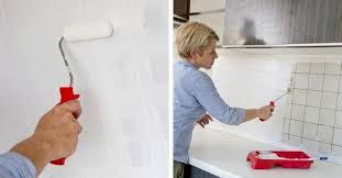 peinture sur carrelage cuisine repeindre le carrelage d une crédence de cuisine repeindre