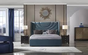 luxus schlafzimmer set 3tlg leder bett 2x nachttisch moderne design betten
