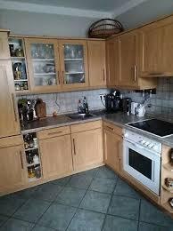 küche gebraucht l form buche furnier herd kühlschrank