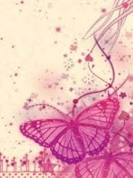 Pink Butterfly Mobile Phone
