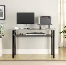 Wayfair Glass Corner Desk by Vittsjö Laptop Table Black Brown Glass Ikea With Regard To Elegant