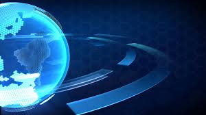 3D Computer Generated Globe Animation Suits For A News Background Blue Version