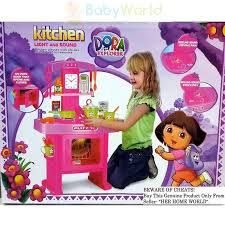 Dora The Explorer Talking Kitchen Set by Talking Kitchen Dora S Fiesta Kitchen Toy Review Youtube Fisher