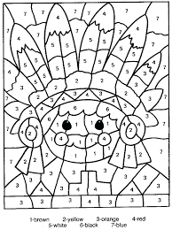 Halloween Coloring Pages By Number Hard Printable For Color Animals