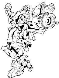 Transformers Bumblebee Firing Bazooka In Coloring Page