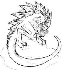 Drawing Godzilla Coloring Pages