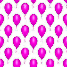 Balloon Seamless Pattern Happy Birthday Party Holiday Decoration Carnival Festival Design Background Wrapping Paper