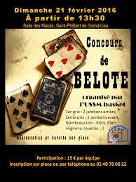 tournoi de belote le 21 février 2016 à philbert de grand lieu