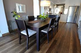 Stained Ash Dining Room Hardwood Flooring