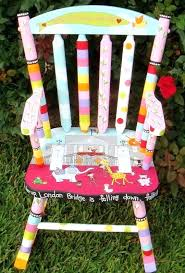 rocking chair covers for nursery custom painted rocking chair for