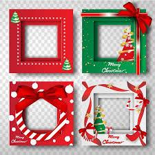 Paper Art And Craft Of Merry Christmas Border Frame Photo Design Setportraitvector
