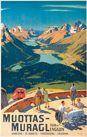100 Muottas Muragl Wilhelm Friedrich Burger 18821964 MUOTTASMURAGL Posters Ski