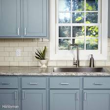 Hvlp Sprayer For Kitchen Cabinets by 20 Surprising Tips On How To Paint Kitchen Cabinets Family Handyman