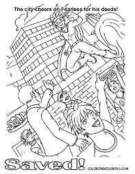 Comic Books Coloring Page For Kids
