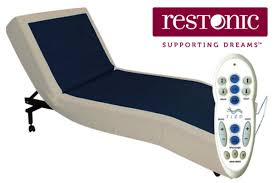 Tempur Pedic Premier Headboard Brackets by Restonic Mocha Adjustable Foundation Collection