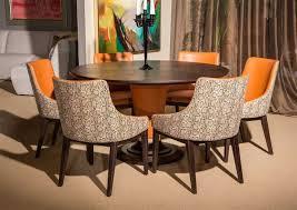 Aico Cosmopolitan Orange Round Table Top 54
