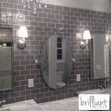 9 95sf gray glass 3 x 6 inch subway tile