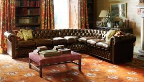 canap chesterfield angle canapé d angle chesterfield en cuir 3 places stamford