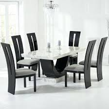 Houston Dining Room Furniture Marble Table In Cream With 6 Grey Discount Sets