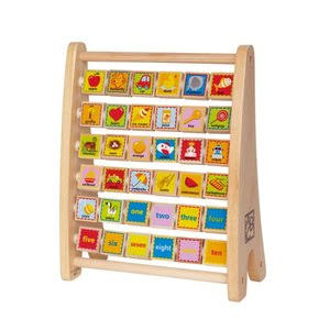 Hape Alphabet Abacus Wooden Toy