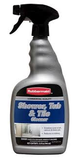 rubbermaid commercial quality tub tile cleaner spray it on let