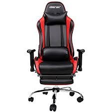 Reclining Gaming Chair With Footrest by Amazon Com Merax High Back Racing Home Office Chair Ergonomic